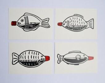 Soy Fish Bottle Postcards