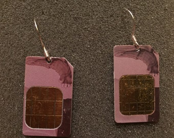 Smart Earrings - Made from Reclaimed SIM Cards