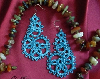MACHINE EMBROIDERY DESIGN - Lace earrings, tatting