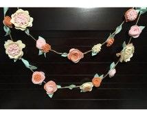 Felt Flower Garland nursery wedding decoration - Home decor