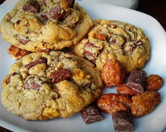 One Dozen Pecan Praline Chocolate Chunk Cookies