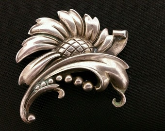 Vintage Vikingcraft Sterling Silver Brooch Pin, signed