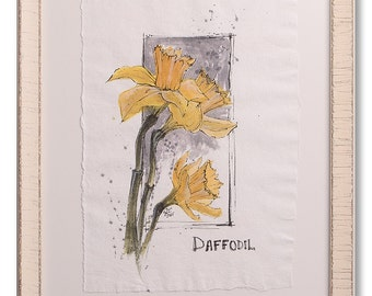 Daffodil Watercolor Painting