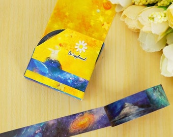 Space fantasy galaxy washi paper masking tape (1.5cm x 5m)