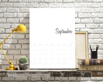 2017 Printed Calendar | Personalised | Simplistic #01602