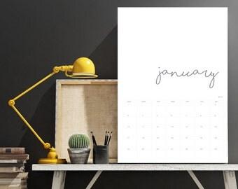 2017 Printed Calendar | Personalised | Simplistic #01603