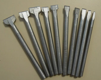Set of chisels to engraver