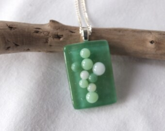 Green fused glass pendent