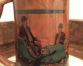 Vintage Pope-Waverley 1907 Electric Car Brown Beer Stein Mug