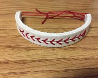 Baseball Leather Bracelet