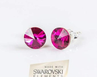 Pink Swarovski Elements ® Earrings