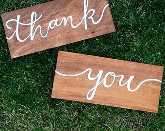 thank you sign set