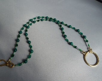 Shades of Green Eyeglass Necklace