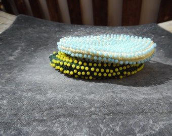 Vintage beaded coin purse ~ two