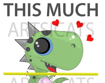 FUNNY Greeting cards-for anniversary-for valentine-handmade-digital-art-humor-love- dinosaur in love