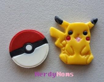Chocolate Pikachu and Pokeball set, Pokemon