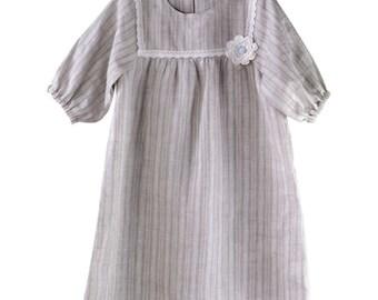 Handmade Natural Linen Dress
