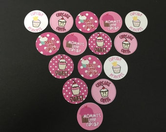 Cupcake Cutie Buttons Set of 15