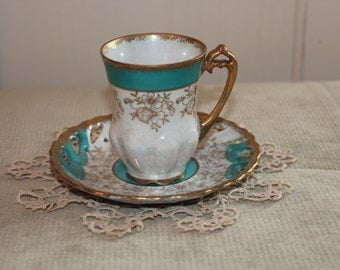 Vintage Lefton China Tea Cup #1423