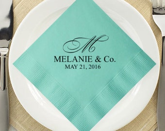 100 Pcs Elegant Personalized Napkins