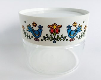 Vintage Pyrex Corning with Two Blue Birds 1975