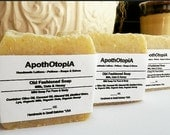 Milk, Oats & Honey Soap - Organic - Fair Trade Sourced, Traditional, Unscented, Plain, Rustic Soap