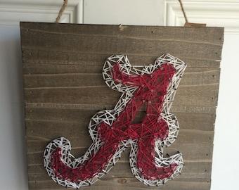 Alabama Crimson Tide   string art