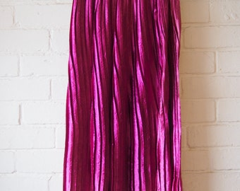 Long magenta (pink) pleated skirt size S