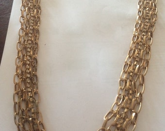 Vintage gold plated chain