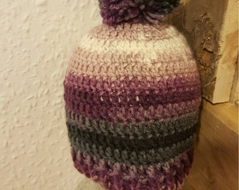 Crochet bobble hat 1/3years