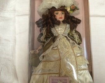 Collectible Memories Porcelain Doll - Caroline