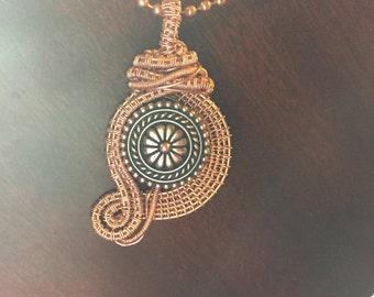 Copper Wire Wrapped Button