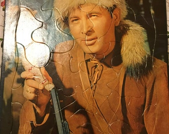 1955 Davy Crockett inlay Puzzle Walt Disney