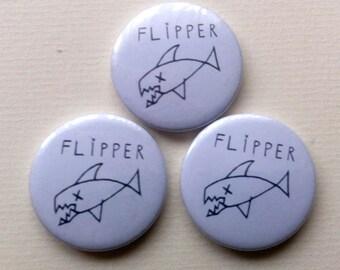 Flipper Pinback Button