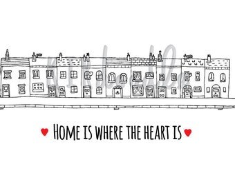 A4 'Home is Where the Heart Is' Print