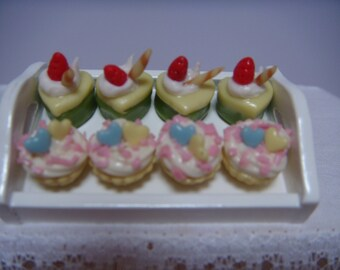 a tray of 8 cakes for you patisserie or cake shop.