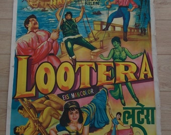 9 Original 1960's Bollywood Film Posters-Lootera and Mere Huzoor