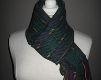 """scarf """"BRASILIA"""" Purple, green, yellow, black"""