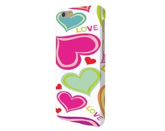 LOVE HEARTS iPhone case all iPhone models 4/4S/5/5S/5C/6/6S/6 PLUS