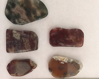 Five Beautiful Pieces of Moss Agate