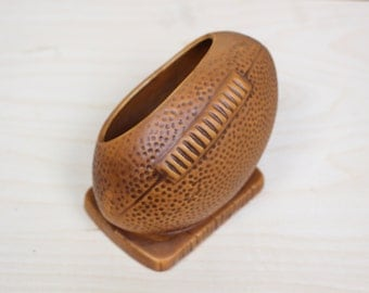 Vintage Football Candy Dish or Planter