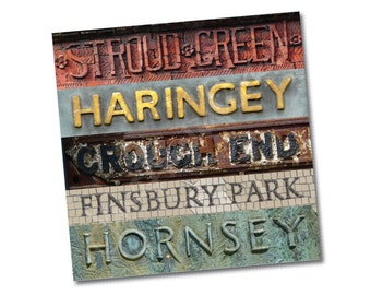 "Greeting card – ""Haringey Stripes"" – Crouch End, Finsbury Park, Stroud Green and Hornsey – FREE UK postage"