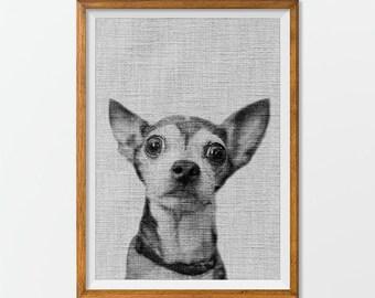 Dog Printable, Dog Art Print Download - Animal Artwork Animal Art Print, Animal Printable Instant Download