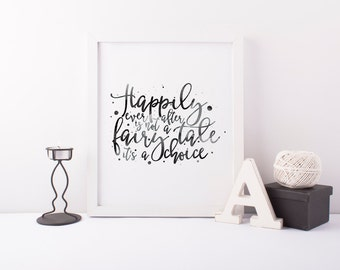Marriage Art Print - Typography Print - Love Quote Print - First Anniversary Gift - Husband and Wife Decor - Art Print - Home Decor