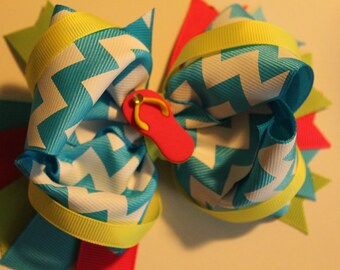 Summertime fun flip flop hair bow