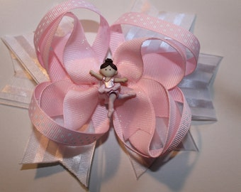 Ballet dancer boutique hair bow