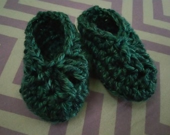 Shades of Blue Newborn baby Booties