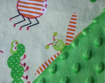 Insect Minky Baby Blanket