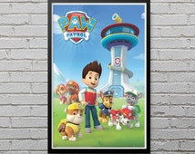 Paw Patrol Team Poster Print Paw Patrol Picture Gift Lunch Marshall Rubble LP16