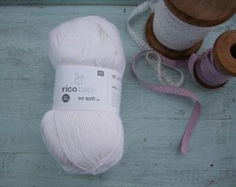 Rico Baby So Soft DK Yarn White 001